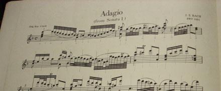 ▲無伴奏ヴァイオリンソナタ第1番 Adagio
