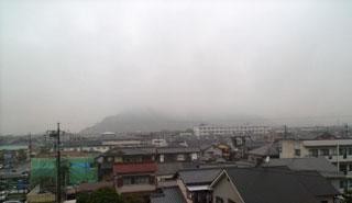 ▲裏山も雲の中。
