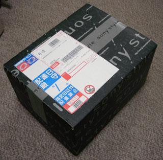 ▲我が家ではお馴染みのSonyStyleの箱。