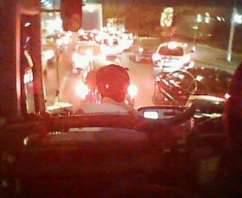 北京市内大渋滞中